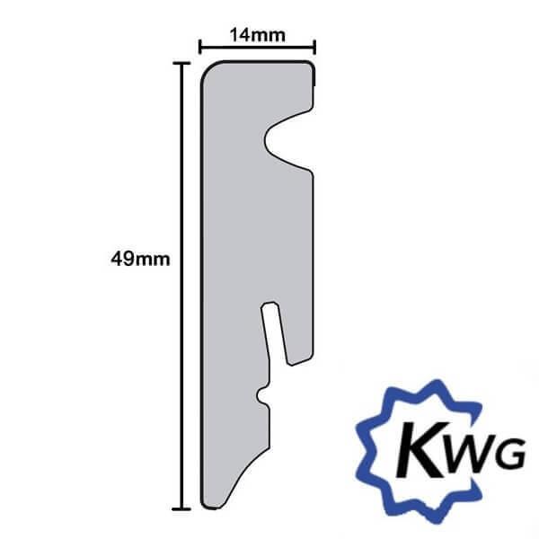 Sockelleiste digital 49 mm x 14 mm für KWG Trend Vinylböden