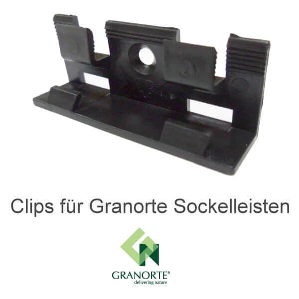 30 Clips für Granorte Kork- und Vinyl-Sockelleisten