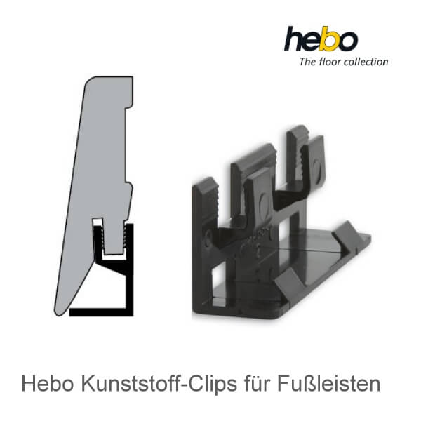 20 kunststoff clips f r hebo sockelleisten. Black Bedroom Furniture Sets. Home Design Ideas