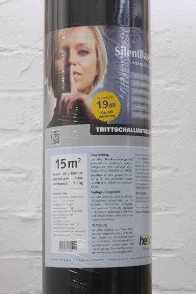 15 m² Hebo SilentBase Designboden-Unterlage 1,0 mm