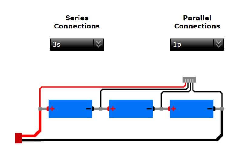 Verkabelung 3S-Akku mit Balancerkabel
