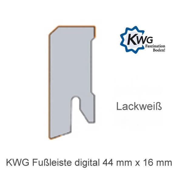 Sockelleiste Lackweiß 44x16 von KWG