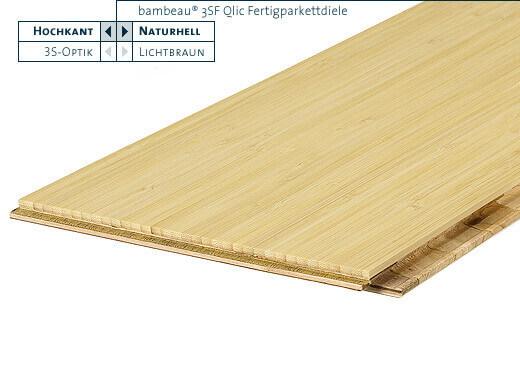 3SF Qlic naturhell vertikal geölt Bambeau Bambusparkett