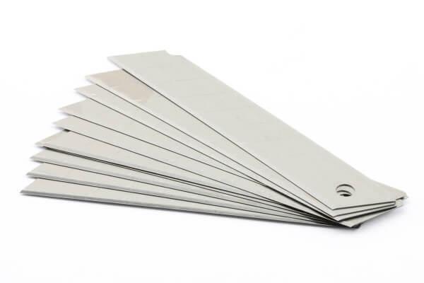 10er Pack Abbrechklingen 18 mm / 0,4 mm · Ersatz für Alu Cuttermesser