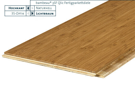 3SF Qlic lichtbraun vertikal lackiert Bambeau