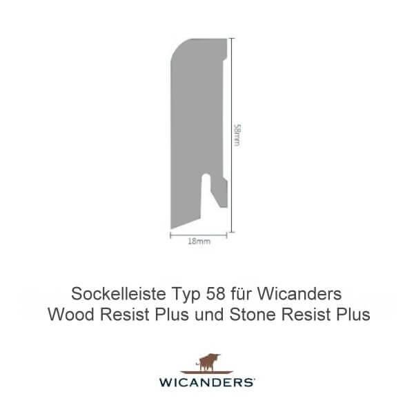 Sockelleiste Typ 58 für Wicanders Wood Resist Plus und Stone Resist Plus
