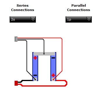 Verkabelung 2S-Akku mit Balancerkabel