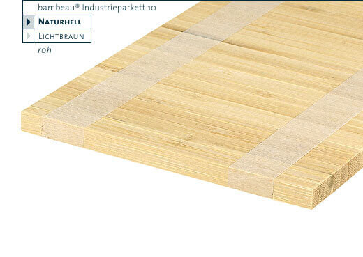 Hochkantlamelle naturhell Bambeau Industrieparkett Bambusparkett 10 mm