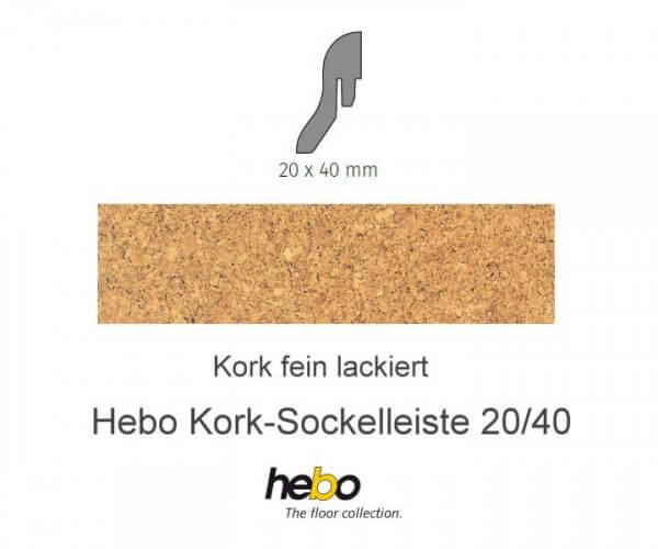 Hebo Sockelleiste 20/40 Kork fein lackiert
