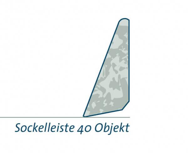 Bambeau Sockelleiste 40 Objekt umbra lackiert