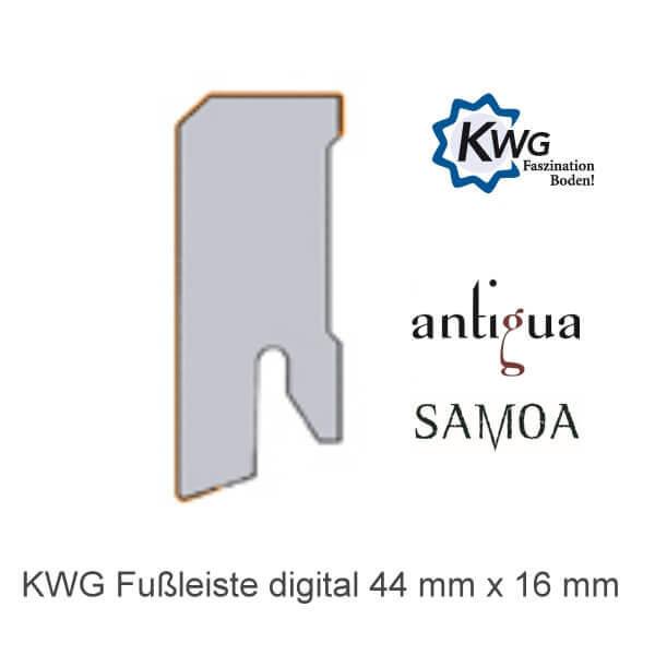 Sockelleiste digital 44x16 für KWG Samoa und Antigua