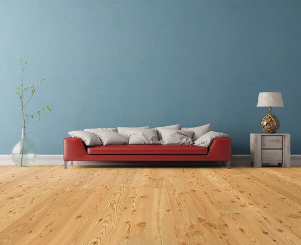 Euro Landhausdiele Lärche natur astig matt versiegelt