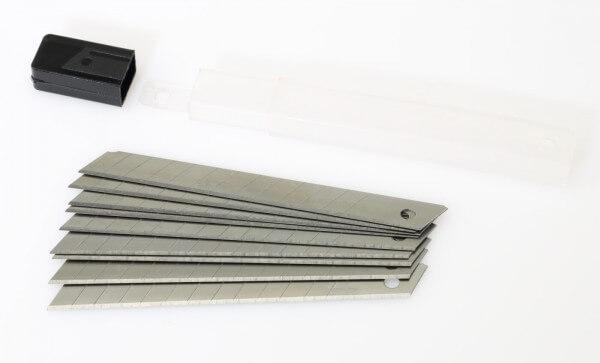 10er Pack Abbrechklingen 9 mm · Ersatz für Alu Mini Cuttermesser