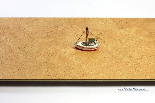Comfort Nazaré colorit-weiß naturgeölt · 900 x 300 x 11 mm · Hebo Korkboden