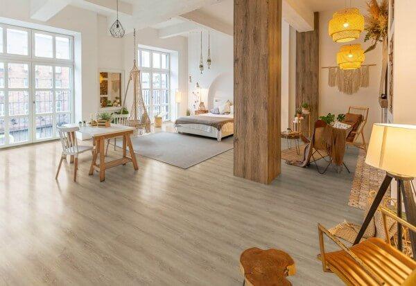 Eiche gekalkt · 1200 x 10 x 8,7 mm · Trend Comfort 0.30 KWG Vinylboden