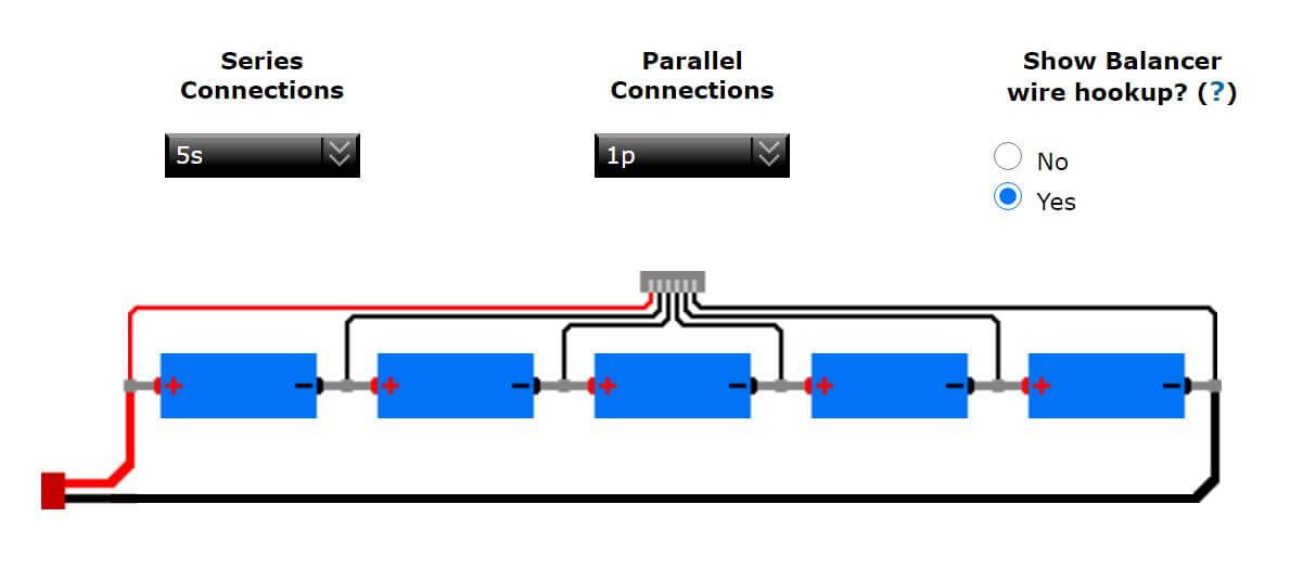 Verkabelung 5S-Akku mit Balancerkabel