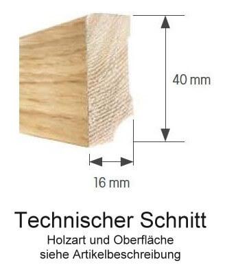 Fußleiste Cube 16/40 Eiche geölt · Thede Witte