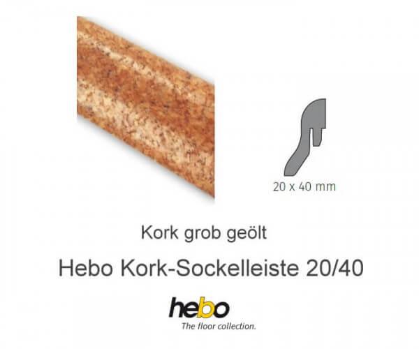 Hebo Sockelleiste 20/40 Kork grob geölt